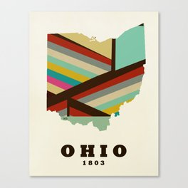 Ohio state map modern Canvas Print