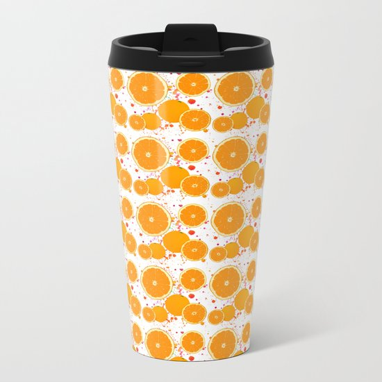 juicy orange Metal Travel Mug