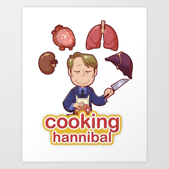 Cooking Hannibal Art Print
