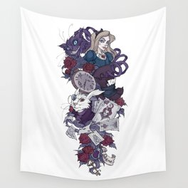 Alice tattoo sleeve Wall Tapestry