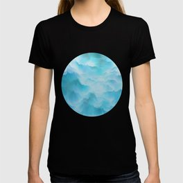 Clouds and mountains. Abstract. T-shirt