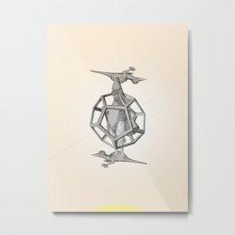 Caged Merman Metal Print
