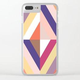 Retro Rhombus Clear iPhone Case