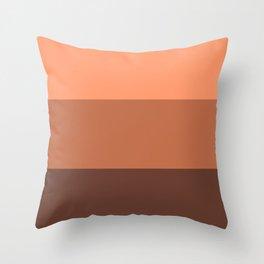 Peach Gradient Pattern Throw Pillow