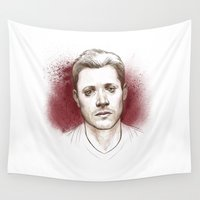dean winchester Wall Tapestries featuring Dean Winchester. Hurt by Armellin