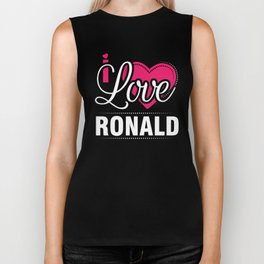 I love Ronald Best Boy friend ever - Valentine Day Biker Tank