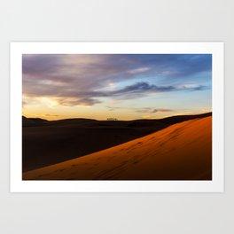 Sunset in the Sahara, Morocco, Africa Art Print