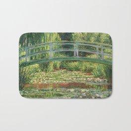 Bridge over a Pond of Water Lilies - Monet Bath Mat
