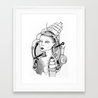 sailor Framed Art Prints featuring SAILOR by • PASXALY •