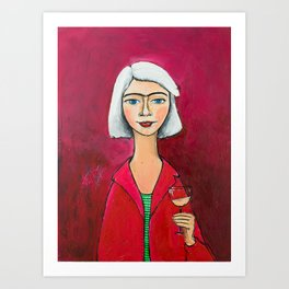 I F***ing love wine! Art Print