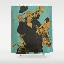 ABSTRACT JAZZ Shower Curtain