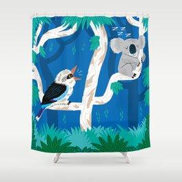 The Koala and the Kookaburra (version 2) Shower Curtain