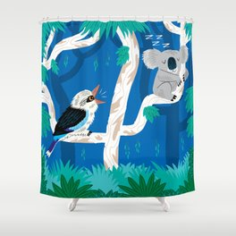 The Koala and the Kookaburra Shower Curtain