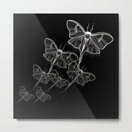 Noctural Ghost Moth Metal Print