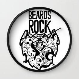 Beards Rock! Wall Clock