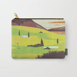 'For Golf' Northern Ireland Travel poster Carry-All Pouch