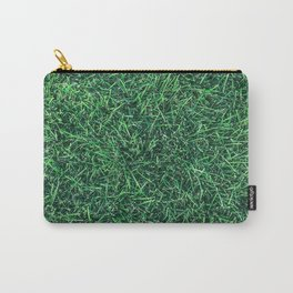 Green Grassy Texture // Real Grass Turf Textured Accent Photograph for Natural Earth Vibe Carry-All Pouch