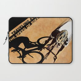 TRAVELING AT THE SPEED OF BIKE Laptop Sleeve