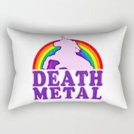 Funny Death Metal Unicorn Rainbow T-Shirt Rectangular Pillow