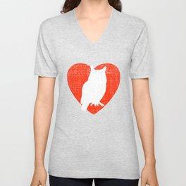 Heart For Owls Unisex V-Neck