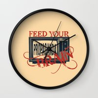 propaganda Wall Clocks featuring Propaganda 1 by Patterns of Life