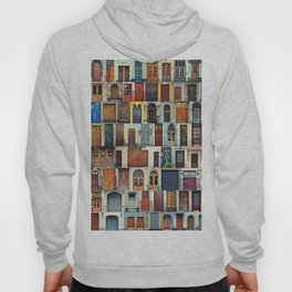 Collage of Kiev front doors,Ukraine Hoody