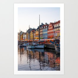 Colorful Nyhavn Vertical Art Print