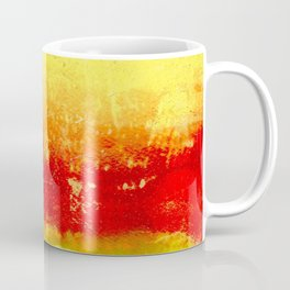 Vibrant Yellow Sunset Glow Textured Abstract Coffee Mug