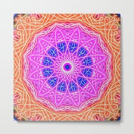 GEM of flower, geometric flower Metal Print