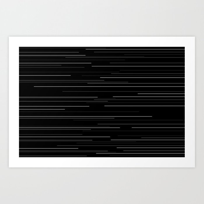 Light speed Art Print