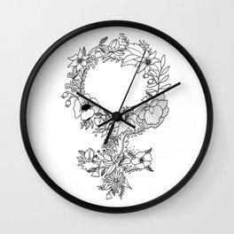 Feminist Flower  2.0 Wall Clock
