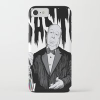 hitchcock iPhone & iPod Cases featuring hitchcock by Darby Krow