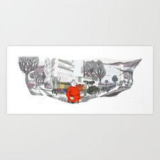 Unidad Vecinal Art Print