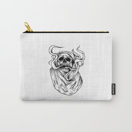 smoking skull Carry-All Pouch