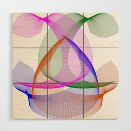 Abstract Colored Lines Wood Wall Art