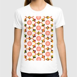 Neon Chunky Flowers Coral T-shirt