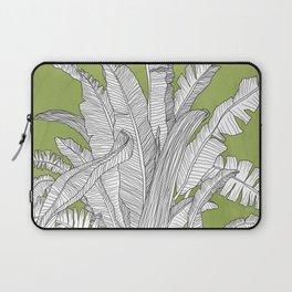 Banana Leaves Illustration - Green Laptop Sleeve