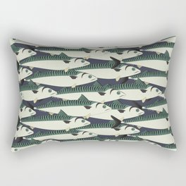 Mackerel fish close up Rectangular Pillow