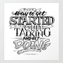 Quote - Walt 2 - Typedesign Art Print