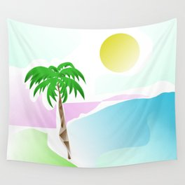 Tropical summer design Wall Tapestry