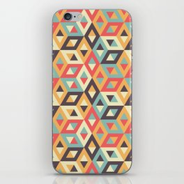 Pastel Geometric Pattern iPhone Skin