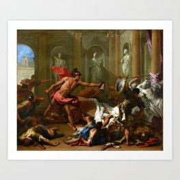 Sebastiano Ricci Perseus Confronting Phineus with the Head of Medusa Art Print