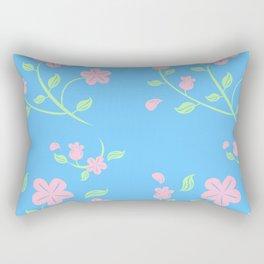 Pink Flower Backgroud Rectangular Pillow
