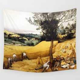 The Harvesters Painting by Pieter Bruegel the Elder Wall Tapestry