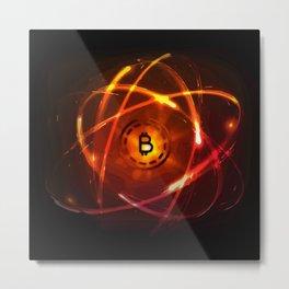 Bitcoin Galaxy (Abstract Art) Metal Print
