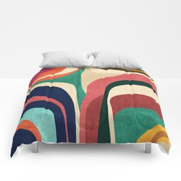 Impossible contour map Comforters