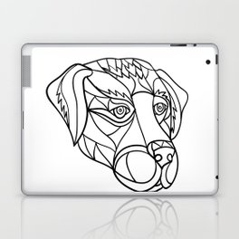 Labrador Dog Head Mosaic Black and White Laptop & iPad Skin