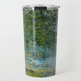 "Camille Pissarro ""Bords de l'Oise à Auvers-sur-Oise""(""Banks of the Oise at Auvers-sur-Oise"") Travel Mug"