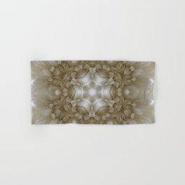 Bright White Flower Kaleidoscope Hand & Bath Towel