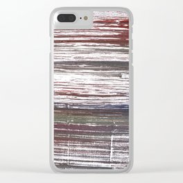Red-gray abstract Clear iPhone Case
